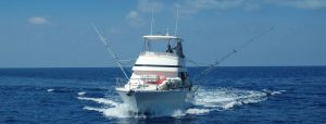 A very impressive charter boat in action
